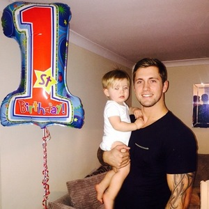 Dan Osborne celebrates son Teddy's first birthday - 22 Dec 2014