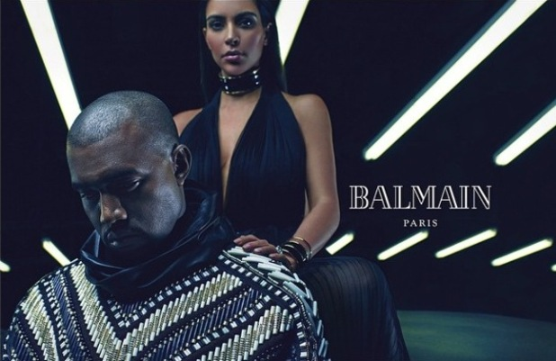 Kim Kardashian and Kanye West announced as the new faces of Balmain for SS15 campaign. 23 December 2014.