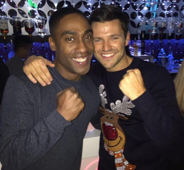 Mark Wright and Simon Webbe go clubbing in Faces, Essex, after Strictly Come Dancing final - 22 Dec 2014