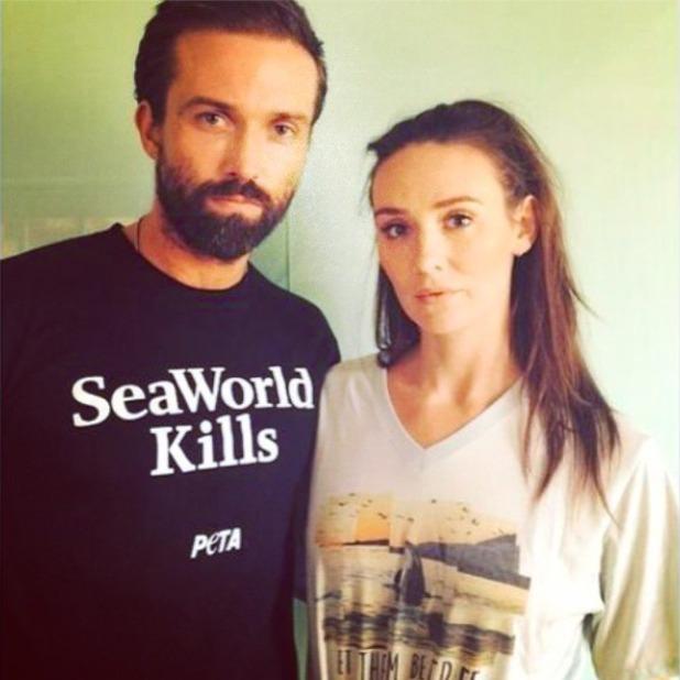 Emmett J. Scanlan and Claire Cooper share selfie.