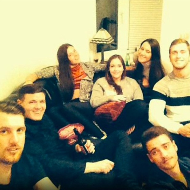 Jacqueline Jossa shares a picture of her FIFA-fuelled Christmas Day spent with TOWIE's Dan Osborne, 26 December 2014