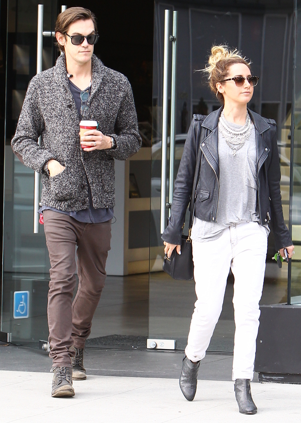 Ashley Tisdale and Christopher French step out in Los Angeles, America - 19 December 2014