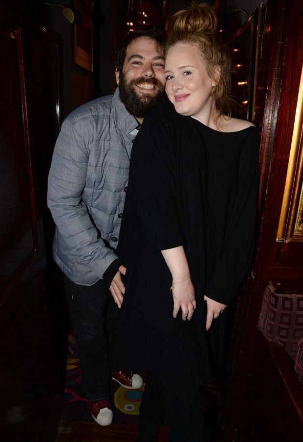 Simon Konecki and Adele attend a Lady Gaga concert at Annabel's, London - 06 Dec 2013