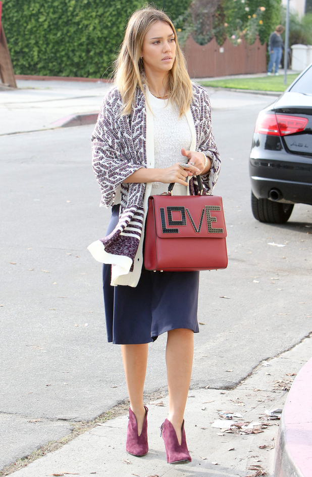 Jessica Alba steps out in Los Angeles, America - 21 December 2014
