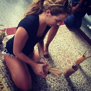 Lydia Bright finding out her fortune in Thailand 2 January 2015