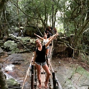 Lydia Bright and Georgia Bright in Thailand 2 January 2015