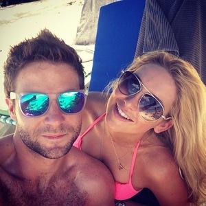 Stephanie Pratt and Josh Shepherd on NYE in Barbados 31 December 2014