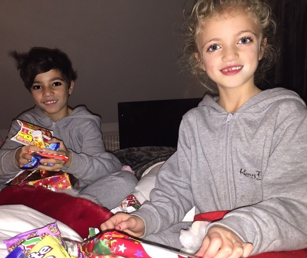 Katie Price shares cute family shots of family, 3 January 2014