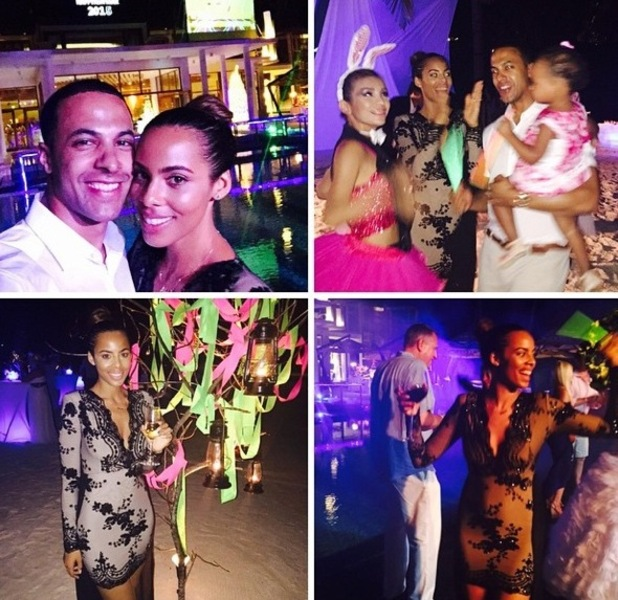 Rochelle and Marvin Humes celebrate NYE in Maldives 31 December