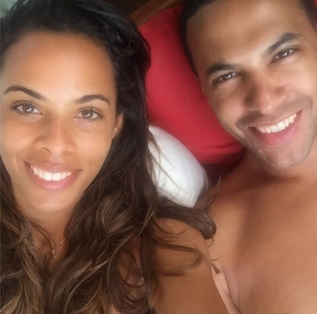 Rochelle and Marvin Humes on holiday in Maldives 2 January 2015
