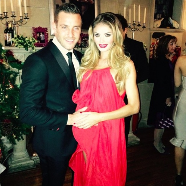 Chloe Sims, Danielle Armstrong, Elliott Wright and James Lock enjoy a double date on New Year's Eve 2014.