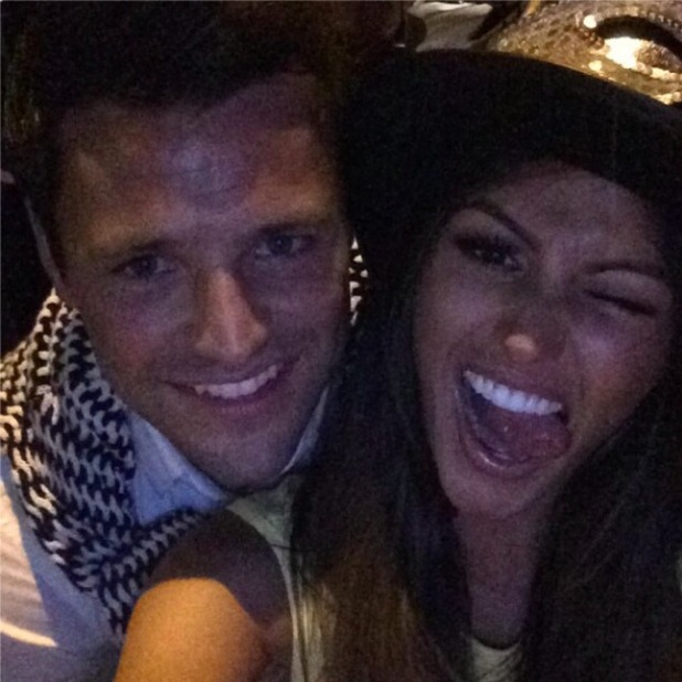 Mark Wright spends New Year's Eve with Michelle Keegan, 31 December 2014