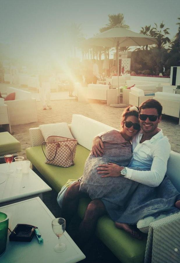 Mark Wright spends New Year's Day with Michelle Keegan, 1 January 2015