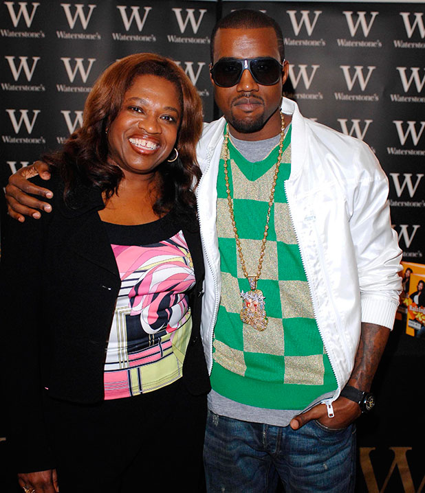Donda West and Kanye West at the book signing for Kanye West's mother Donda West's book ' Raising Kanye: Life Lessons From The Mother Of A Hip-Hop Superstar ' at Waterstones bookstore in Piccadilly London, England - 30.06.07