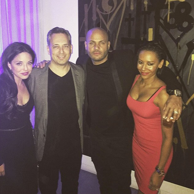 Mel B and Stephen Belafonte with friends on New Year's Eve, 31 December 2014
