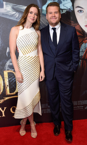 Emily Blunt at James Corden at the Mayfair screening of Into The Woods, London 7 January