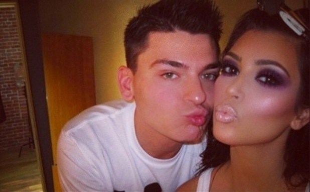 Mario Dedivanovic posts a throwback picture from seven years ago with Kim Kardashian West wearing purple eye make-up - 6 January 2015