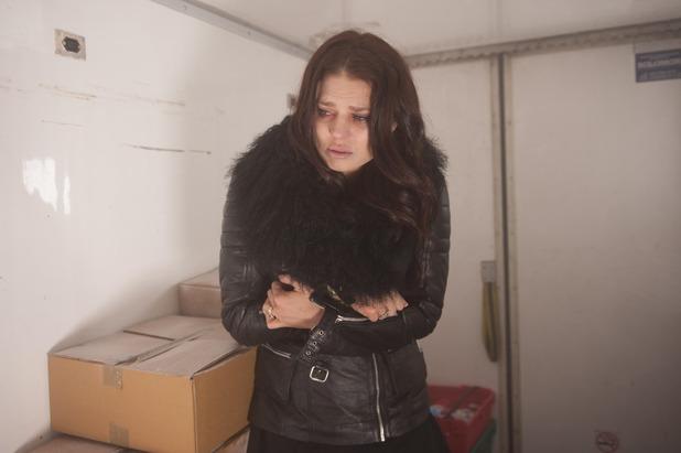 Hollyoaks, Porsche trapped in the freezer, Fri 9 Jan