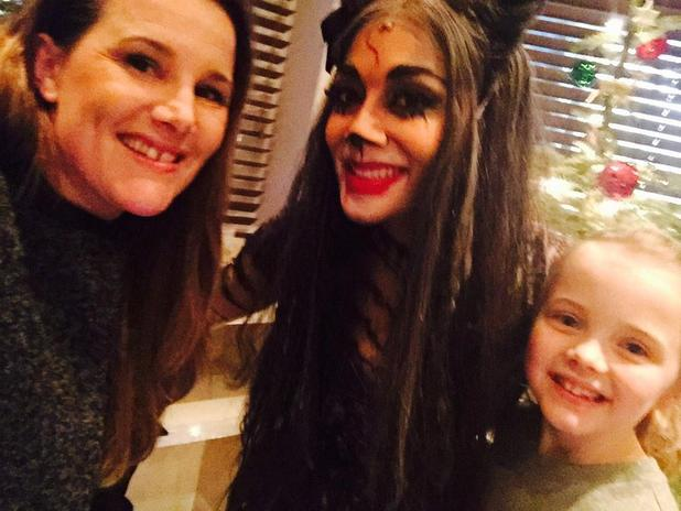 Nicole Scherzinger hangs out with Sam Bailey and her daughter Brooke after performance in Cats in London - 3 January 2015.