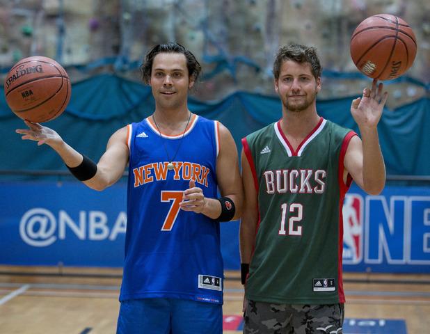 Andy Jordan & Stevie Johnson NBA London Promo Pics