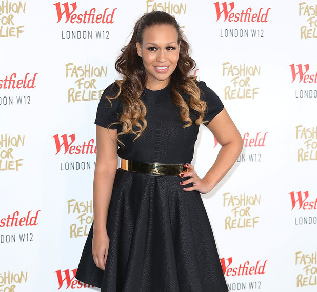 Rebecca Ferguson at Naomi Campbell's Fashion For Relief Pop-Up Shop launch party at Westfield London 11/27/2014 London, United Kingdom