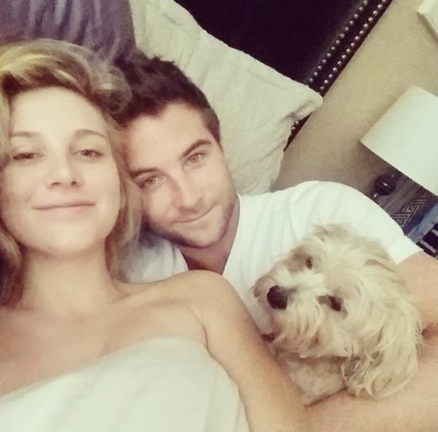Stephanie Pratt and Josh Shepherd in LA 7 January