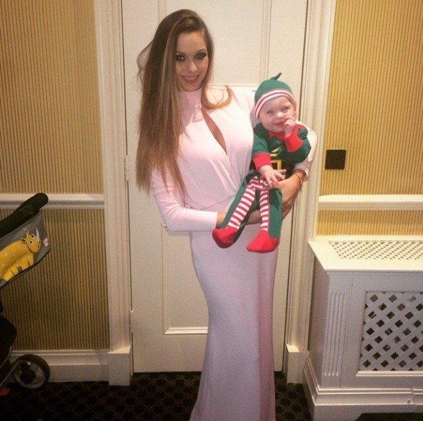 Jessica-Jane Stafford/ Clement shares new picture of baby son dresses as an elf - 28 Dec 2014