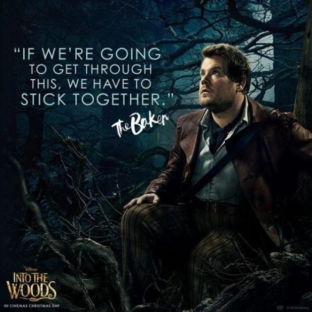 James Corden Twitter Pic The Baker Into The Woods