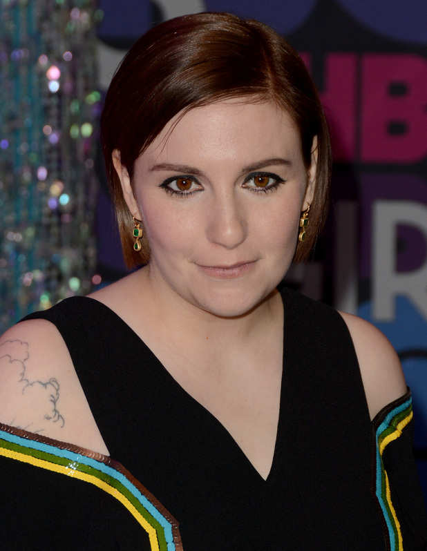 Lena Dunham attends 'Girls' season four premiere at American Museum of Natural History in New York City, 5 January 2014