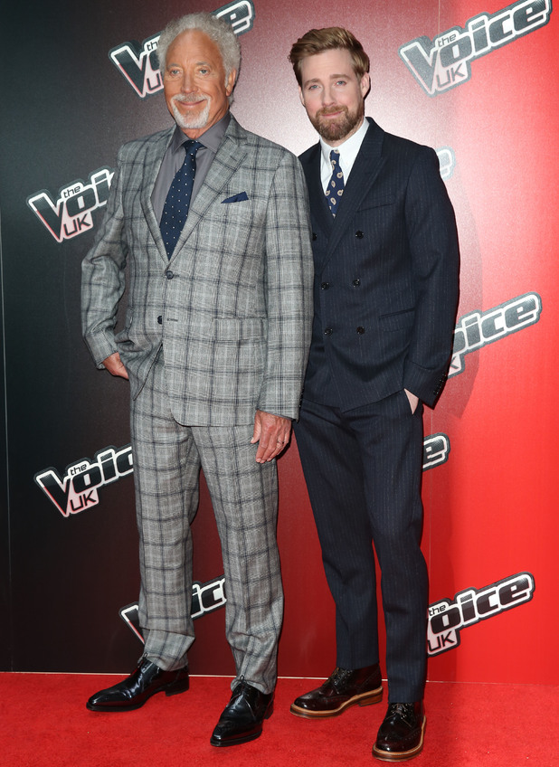 Ricky Wilson and Tom Jones attend the launch of The Voice UK 2015, Mondrian Hotel, London 5 January