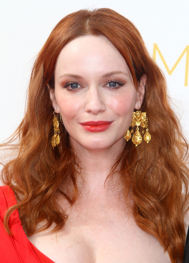 Christina Hendricks at the 66th Primetime Emmy Awards in Los Angeles, America - 25 August 2014