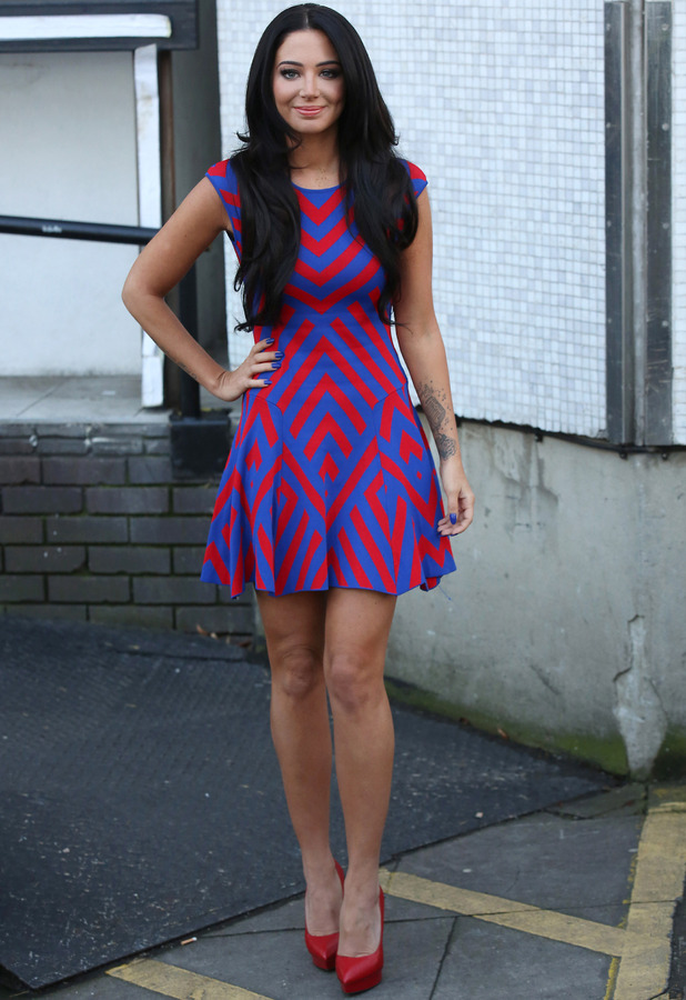 Tulisa seen at the ITV Studios after appearing on Loose Women on January 9, 2015 in London, England.