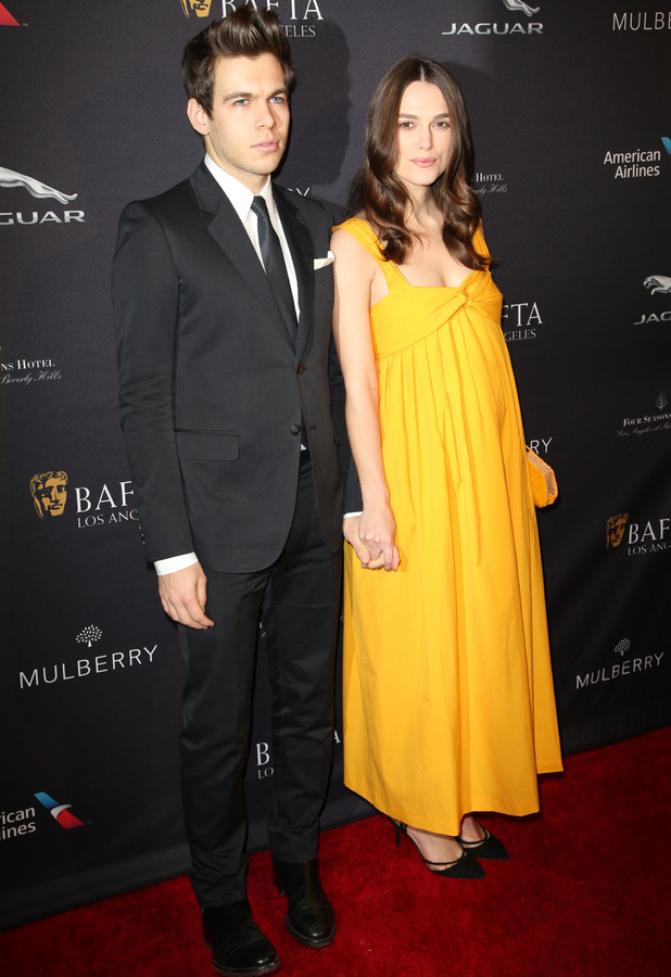 Pregnant Keira Knightley shows off baby bump at BAFTA Los Angeles Tea Party held at The Four Seasons Hotel, 11 January 2015