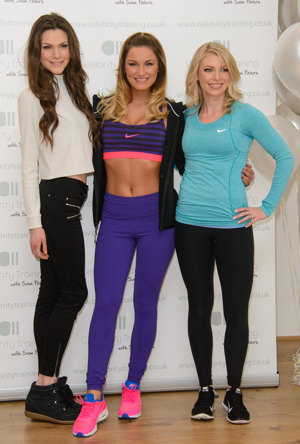 Sam Faiers, Nicole Attrill and Sophie Bradshaw launch Celebrity Training with Sam Faiers at The Worx in London - 6 January 2015