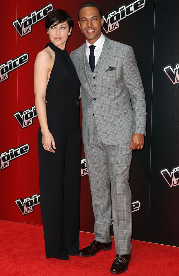 Emma Willis and Marvin Humes at The Voice UK series 4 launch held at The Mondrian Hotel - 5 January 2014