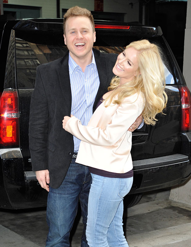 Spencer Pratt and Heidi Montag at AOL in New York City, 5 January 2015