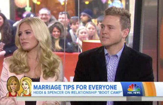 Heidi Montag and Spencer Pratt on Today, 5 January 2014