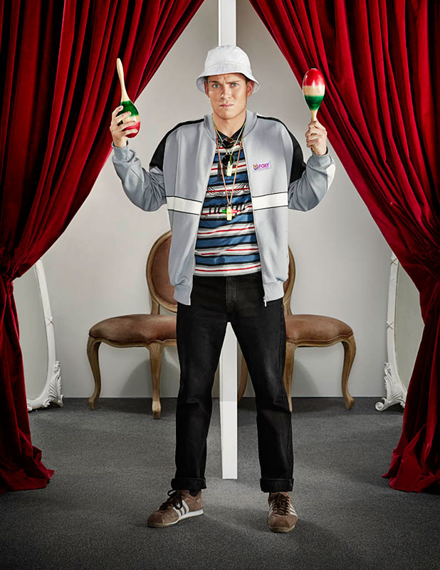 Joey Essex is given a New Year makeover for Foxy Bingo campaign, January 2015