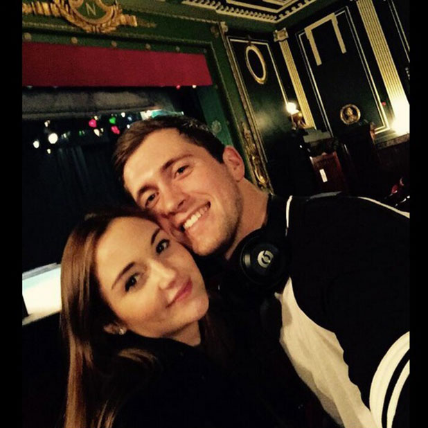Jacqueline Jossa and Dan Osborne at panto in Liverpool, 4 January 2014