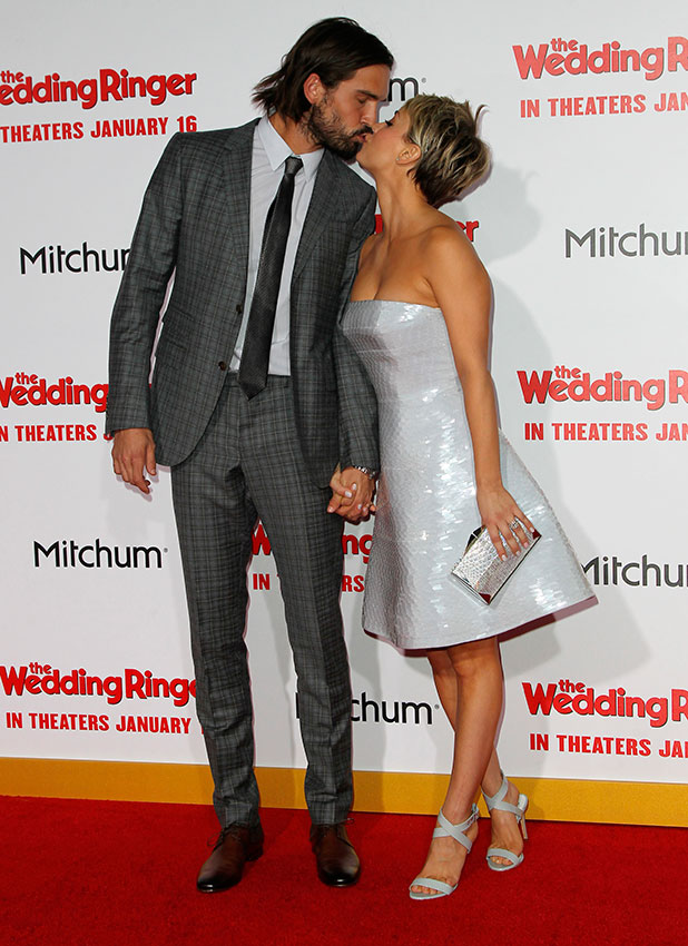 "Kaley Cuoco and Ryan Sweeting at ""The Wedding Ringer"" World Premiere, 6 January 2015"