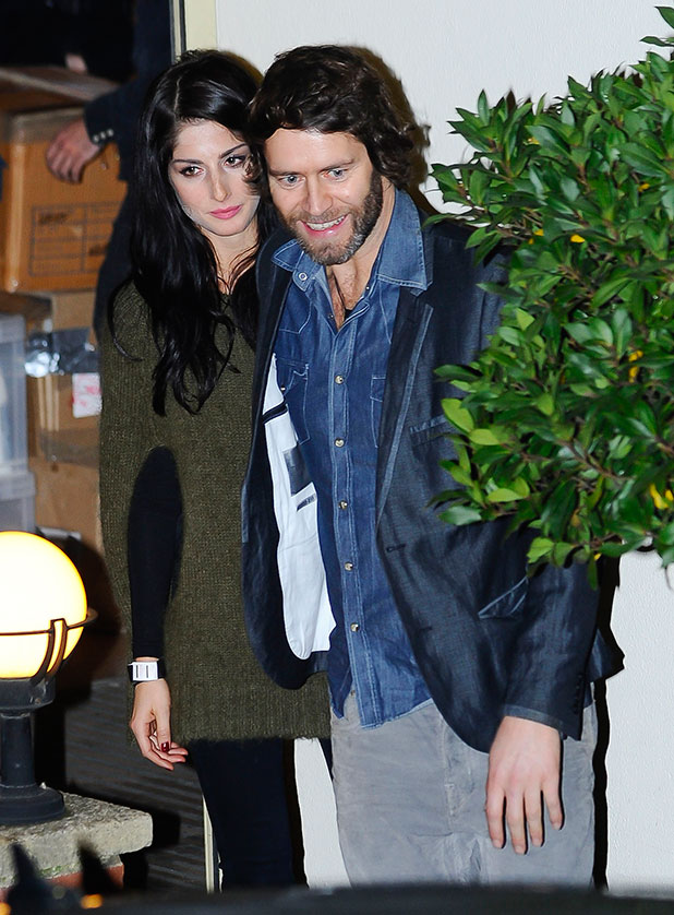 =Howard Donald of Take That with Katie Halil at X Factor Fountain Sudios. London, England - 04.12.11