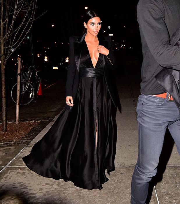 Kim Kardashian arrives to Greenwich Hotel on January 8, 2015 in New York City.