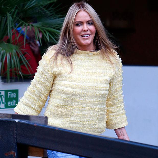 Patsy Kensit outside ITV Studios, 2014