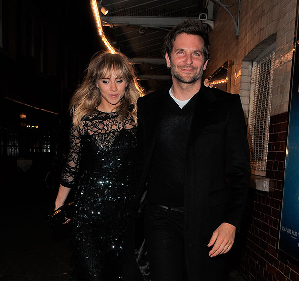 Bradley Cooper, Suki Waterhouse pictured out for meal in London, September 2014