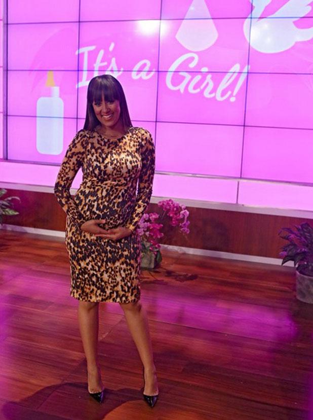 Tamera Mowry-Housley discovers she's having a baby girl, 8 January 2015