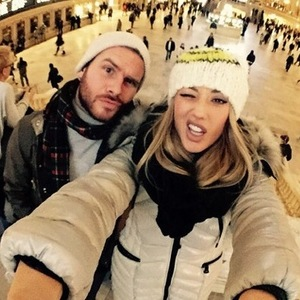 Charlotte Crosby and Mitch Jenkins in New York 14 January