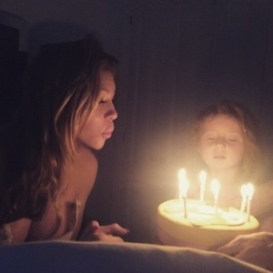 Abbey Clancy celebrates her 29th birthday with daughter Sophia - 10 Jan 2015
