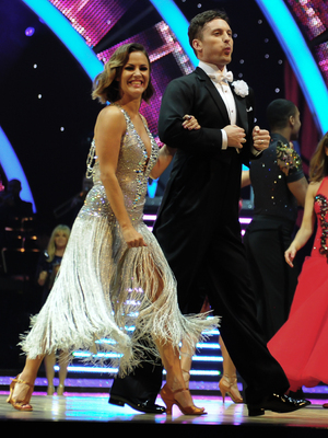 Caroline Flack and Tristan MacManus take part in the Strictly Come Dancing Tour 2015 at the Barclaycard Arena Birmingham, 16 January 2015