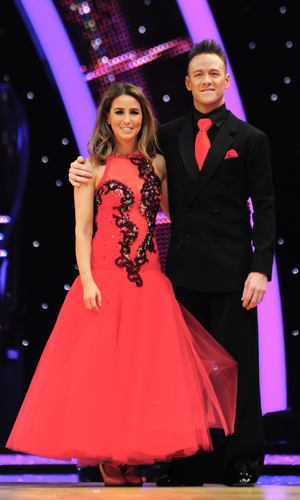 Rachel Stevens and Kevin Clifton take part in the Strictly Come Dancing Tour 2015 at the Barclaycard Arena Birmingham, 16 January 2015