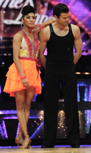 Mark Wright and Karen Hauer take part in the Strictly Come Dancing Tour 2015 at the Barclaycard Arena Birmingham, 16 January 2015